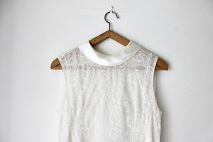 Image of 1960s white lace shift dress (was £69)