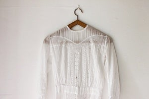 Image of Edwardian cotton lawn dress (was £195)