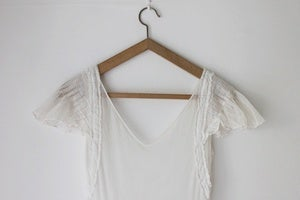 Image of 1930s white tulle wedding dress (was £185)