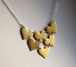 Image of Heart Bib Necklace