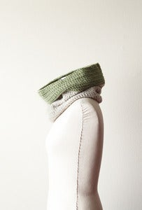 Image of Cozy Cowl in Heather and Key Lime