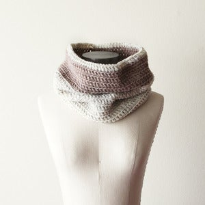 Image of Cozy Cowl in Wheat and Oatmeal