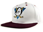 Image of Anaheim Mighty Ducks Vintage Snapback in White
