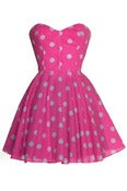 Image of Pin-up Pink Polka Dot Prom Dress