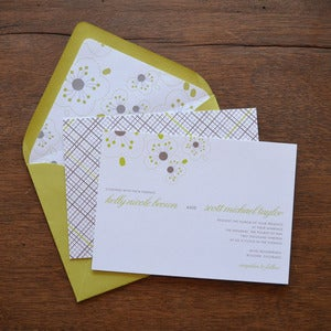 Image of Modern Flowers Wedding Invitations