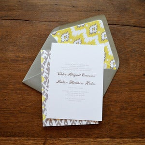 Image of Ikat Wedding Invitations