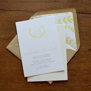 Image of Homespun Wedding Invitations