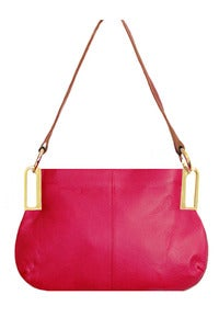 Image of 'Pink Lady' Fuschia Leather Mini Shoulder bag