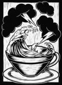 Image of Storm In A Tea Cup - Lino Print