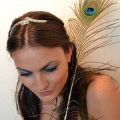 Image of Peacock Feathers Headband