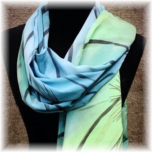 "Image of ""Water Under Ice"" 72"" x 18"" Scarf / Shawl"