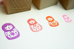 Image of Small Object The Nesting Dolls Rubber Stamp Set 