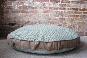 "Image of Greek Key Dog Bed - 38"" Round"