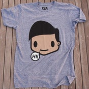 Image of SAY HELLO, AZIMO S/S - ATHLETIC HEATHER GREY
