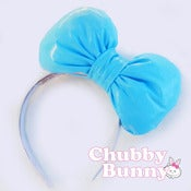 Image of Baby Blue Vinyl Bow