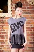 Image of BIG LOVE Fringe Top