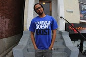 Image of LOUISVILLE DOESNT EXIST TEE SHIRT ROYAL BLUE