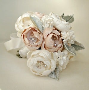Image of Off White, Ivory and Blush Petite Bouquet