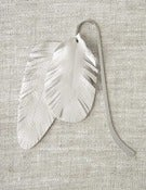 Image of Feather Bookmark - Ivory/Silver