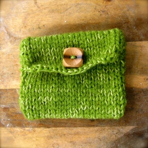 Image of Au Natural, Hemp and Yarn Knit Purse