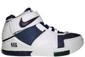 Image of Nike Zoom Lebron II (2) White/Navy