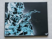 Image of Toile Solid Snake Pochoir / Solid Snake Stencil Canvas
