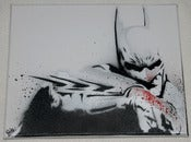 Image of Toile Batman Pochoir / Batman Stencil Canvas