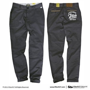 Image of FILTER017 EMBROIDERY CASUAL PANTS-Grey