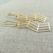 Image of bent earrings - vermeil