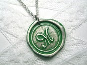 Image of Green Wax Seal Pendant Necklace by Ritzy Misfit