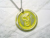 Image of Yellow Wax Seal Pendant Necklace By Ritzy Misfit