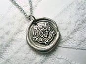 Image of Tudor Rose Wax Seal Necklace By Ritzy Misfit