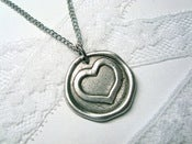Image of Valentine Heart Wax Seal Necklace By Ritzy Misfit