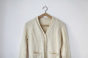 Image of 1950s cream skinny cardigan {SOLD}