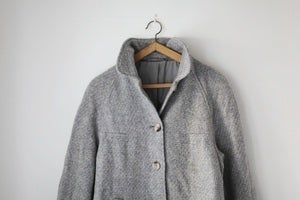 Image of 1970s grey wool coat {SOLD}