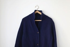Image of 1970s navy wool knit jacket {SOLD}