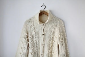 Image of 1970s super soft cream Aran cardigan {SOLD}