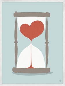 Image of Our Love Is An Hourglass Print