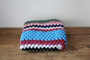 Image of 1970/80s crocheted coloured blanket #2 {SOLD}