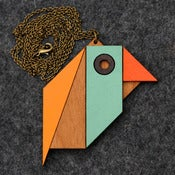 Image of Geometric Bird - Parrot Necklace