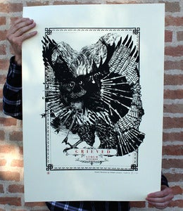 "Image of GRIEVED ""record release"" print LTD to 33"