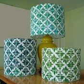 Image of Block Printed Lamp Shade