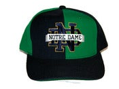 Image of Vintage Notre Dame &quot;Pinwheel&quot; Snapback hat by STARTER  