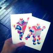 Image of 6 robot postcards