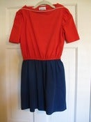 Image of Vintage Blue & Red boatneck mini dress
