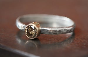Image of Chocolate Diamond Stacking RIng