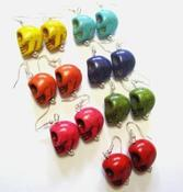 Image of Fruit Stand Sugar Skull Earrings Wear a Pair a Day 7 Sets of Skull Earrings
