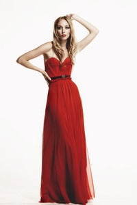 Image of Scarlet Strapless Full-Length Gown