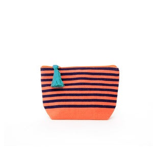 Image of Small Tassel Bag Melon/Navy
