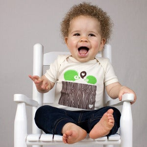 Image of Green Hedgehog Short Sleeve Organic Onesie/Tee